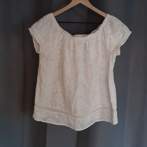 White Embroidered Top by the Lucky Brand.